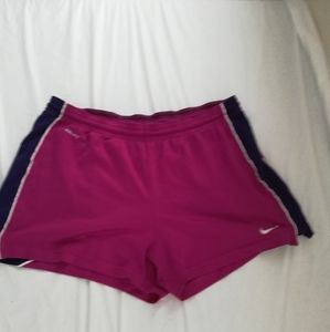 Nike Dry Fit Women's Pink Running Shorts Size L